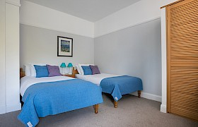 Room 2, twin ensuite with a westerly view and spacious ensuite